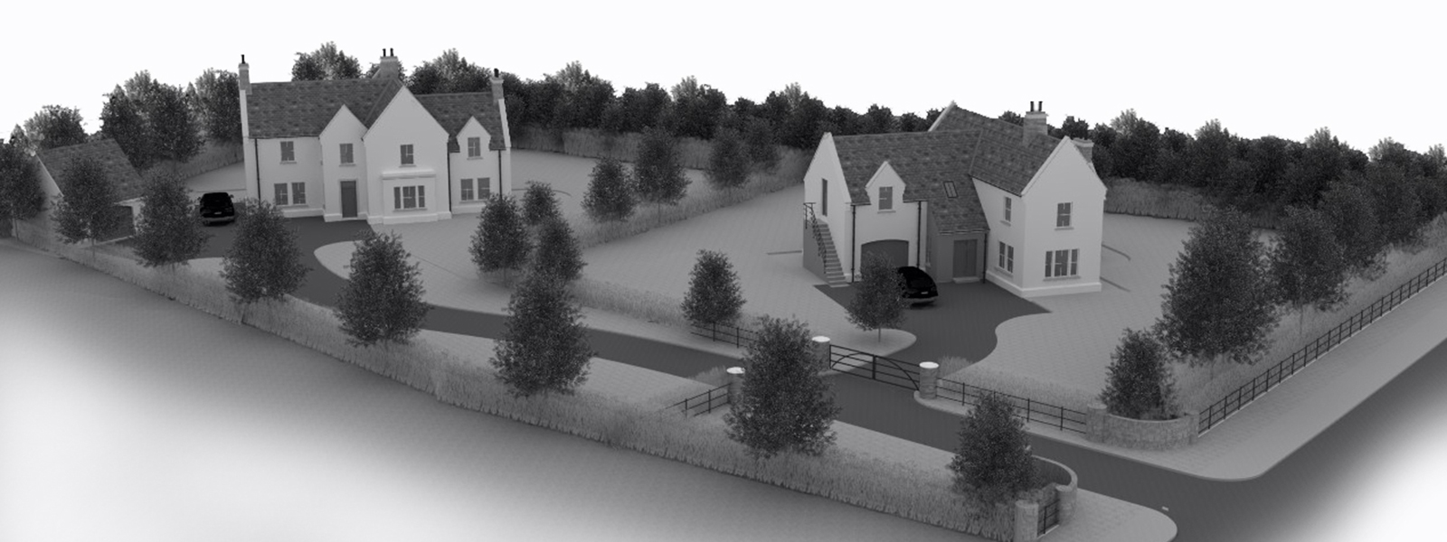 3d Model of Passive house Site Layout