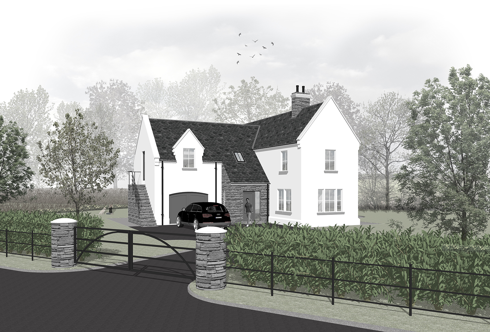 Irish story and a half house plans for Modern house design northern ireland