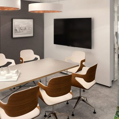 Studio 6 boardroom 3d render