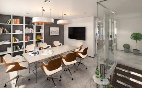 Studio 6 boardroom 3d render