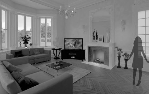 Upper Malone Road interior 3D rendering